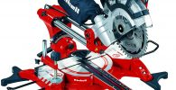 Einhell 4300835 TC-SM 2131 Dual - Ingletadora telescópica, 1500W-1800 W, inserto de mesa con escala, bolsa colectora, 5000 rpm, 230 V