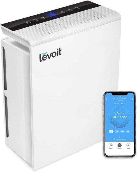 Levoit Purificador de Aire WiFi Inteligente con Filtro HEPA, Hasta 55 m², Temporizador, Monitor de Calidad del Aire, Modo Automático, Capturar Alergias, Tabaco, Olor, Caspas de Mascotas, LV-PUR131S
