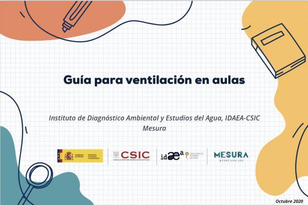 Guía ventilación aulas CSIC